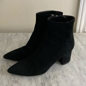 Marc Fisher jarli suede black ankle boots booties